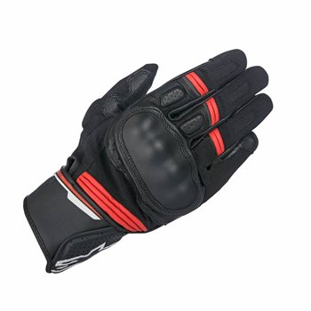 Alpinestars BOOSTER Leather Touchscreen Motorcycle Riding Gloves Black//Red