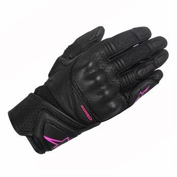 Alpinestars Stella Baika Leather Motorcycle Glove (Black/Fuchsia) Alpinestars-Stella-Baika-Motorcycle-Glove-Black-Fuchsia - Click to view larger image