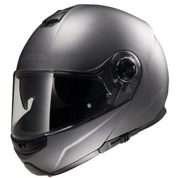 LS2 FF325 Strobe Flip Front Helmet (Matt Titanium)  - Click to view larger image
