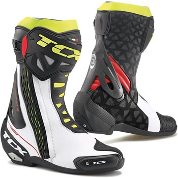 TCX RT-RACE Motorcycle Boot (White/Red/Fluo Yellow) TCX-RT-RACE-Motorcycle-Boot-White-Red-Yellow - Click to view larger image