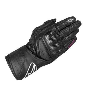 Revit Bastille Ladies Leather Motorcycle Gloves Black