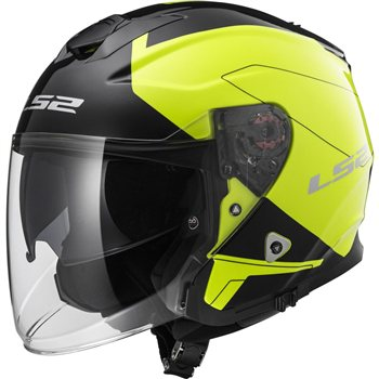 Ls2 Of521 Infinity Beyond Open Faced Helmet Black Yellow The