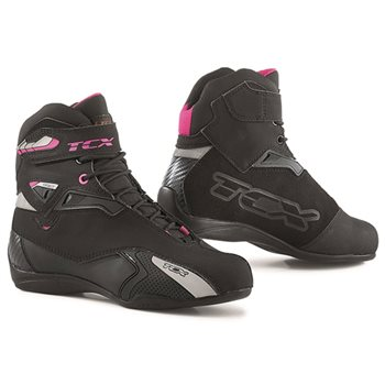 TCX Rush Lady Waterproof Motorcycle Boot (Black/Fuchsia)  - Click to view larger image