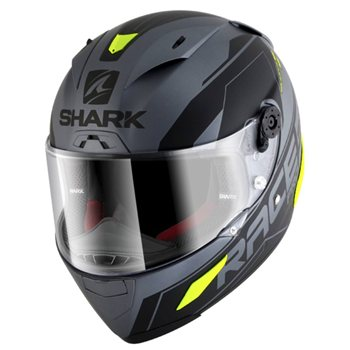 3e702dba6aaea Shark Race R Pro SAUER Helmet (Mat Anthracite Black Yellow) Shark-
