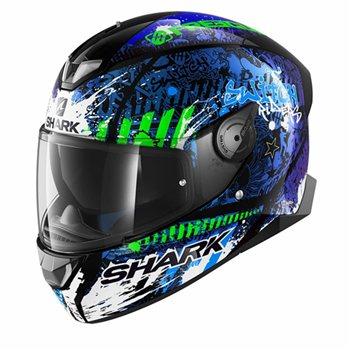 shark skwal 2 switch rider 2 helmet blue green the. Black Bedroom Furniture Sets. Home Design Ideas