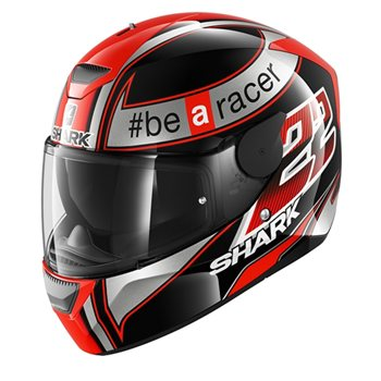 d1b9b047 Shark D-SKWAL Sam Lowes Motorcycle Helmet (Black/Red/Silver) | The ...