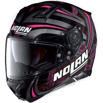 nolan n87 ledlight classic n com motorcycle helmet gloss. Black Bedroom Furniture Sets. Home Design Ideas