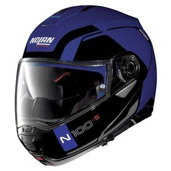 4806152c Nolan N100-5 Consistency N-Com Flip Front Helmet (Flat Cayman Blue ...