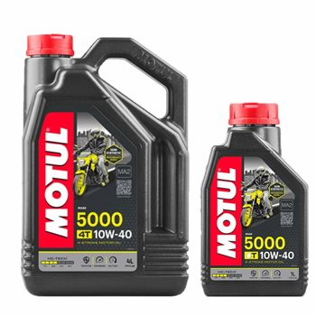 MOTUL 5000 4T 10W40 Semi Synthetic Motorcycle Engine Oil Motul-5000-4T-10W-40-Semi-Synthetic-Motorcycle-Engine-Oil - Click to view larger image