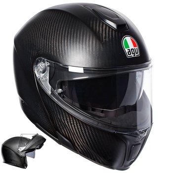 AGV Sports Modular Mono Flip Front Helmet (Matte Carbon) AGV Sports Modular Mono Flip Front Helmet Matte Carbon - Click to view larger image