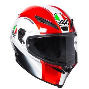 agv corsa r sic58 simoncelli replica helmet white red the visor