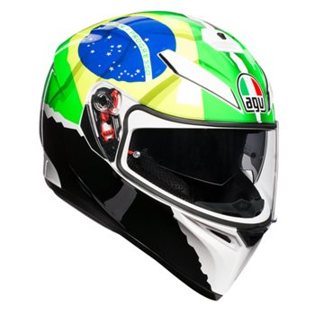agv k3 sv morbidelli motorcycle helmet green yellow white