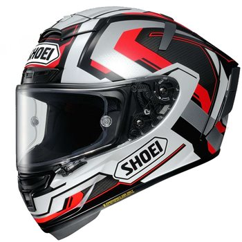 Shoei X-Spirit 3 Brink TC-5 Helmet (Silver|Red|Black)  - Click to view larger image