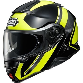 Shoei Neotec 2 Flip Front Helmet Excursion TC3 (Black|Yellow)  - Click to view larger image