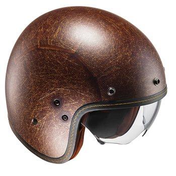 b993a050 HJC FG-70S VINTAGE Open Faced Helmet (Flat Brown) | The Visor Shop.com