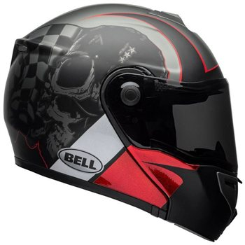 Bell SRT Flip Front Helmet Hart Luck (Charcoal|White|Red) Bell-SRT-Flip-Front-Helmet-Hart-Luck-Charcoal-White-Red - Click to view larger image