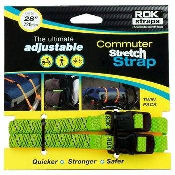 Oxford ROK Commuter Straps LD 12mm Adjustable Green Reflective Oxford ROK Straps LD 12mm Adjustable Green Reflective - Click to view larger image