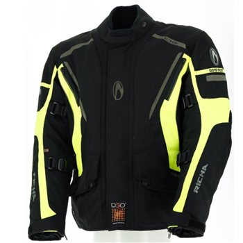 Richa Cyclone GTX Gore-Tex Jacket (Black|Flo Yellow) Richa-Cyclone-GTX-Gore-Tex-Jacket-Black-Yellow - Click to view larger image