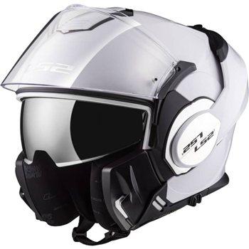 Ls2 Ff399 Valiant Flip Front Helmet White Le Pare Shopcom