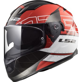LS2 Stream FF320 Evo Kub Helmet (Red|Black)  - Click to view larger image