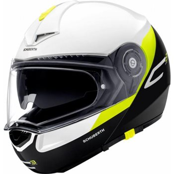 Schuberth C3 Pro Gravity Yellow Flip Front Helmet (White|Black|Yellow) Schuberth C3 Pro Gravity Yellow Flip Front Helmet White-Black-Yellow - Click to view larger image