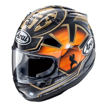 Arai RX-7V Pedrosa Spirit Gold Motorcycle Helmet   - Click to view larger image