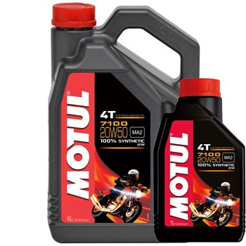 MOTUL 7100 20W50 High Performance Fully Synthetic Oil  - Click to view larger image