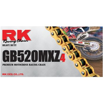 RK GB 520 MXZ4 Gold Chain Motocross Heavy Duty (114 Link)  - Click to view larger image