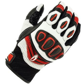 Richa Turbo Motorcycle Gloves (Black/White/Red) Richa-Turbo-gloves-Red - Click to view larger image