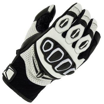 Richa Turbo Motorcycle Gloves (White/Black) Richa-Turbo-gloves-White - Click to view larger image