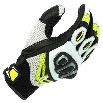 Richa Turbo Motorcycle Gloves (Yellow/White/Black) Richa-Turbo-gloves-Yellow - Click to view larger image