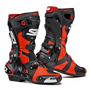 Sidi REX CE Motorcycle Boots (Flo Red|Black) Sidi-REX-CE-Boots-RED - Click to view larger image