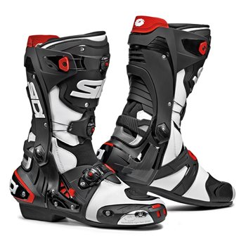 Sidi REX CE Motorcycle Boots (White|Black) Sidi-REX-CE-Boots-Black-White - Click to view larger image