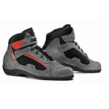 Sidi Duna Motorcycle Boots (Black/Grey/Red)  - Click to view larger image