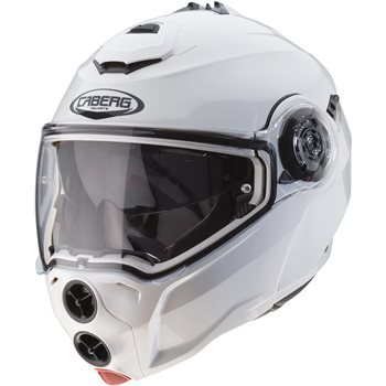 5a0cb002 Caberg Droid Flip Front Helmet (Metal White) - Click to view larger image