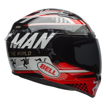 Bell Qualifier DLX Mips Isle Of Man Helmet (Black|Red)  - Click to view larger image