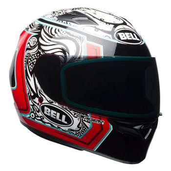 Bell Qualifier Tagger Spilce Helmet (White Black Red)  - Click to view larger image