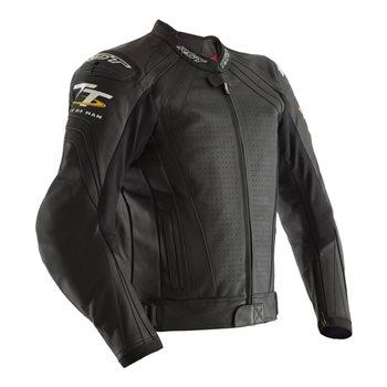 RST IOM TT Grandstand CE Leather Jacket 2235 (Black)  - Click to view larger image