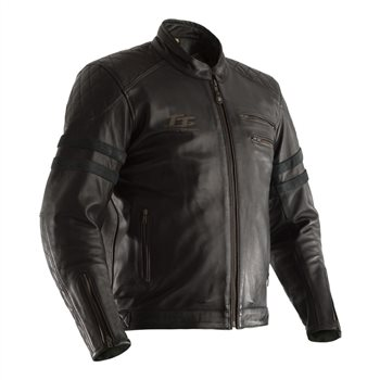 RST IOM TT Hillberry CE Leather Jacket 2232 (Black) RST-IOM-TT-Hillberry-CE-Leather-Jacket-Black - Click to view larger image