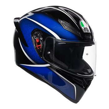 46428572 AGV K1 Qualify Motorcycle Helmet (Black|Blue) | The Visor Shop.com