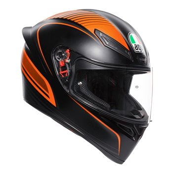 AGV K1 Warm Up Motorcycle Helmet (Matt Black|Orange) AGV-K-1-Warm-Up-Black-Orange - Click to view larger image