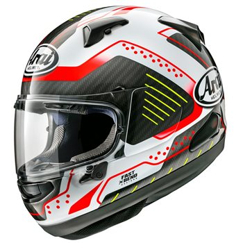 Arai QV Drone Red Motorcycle Helmet  Arai QV Drone Red Motorcycle Helmet - Click to view larger image