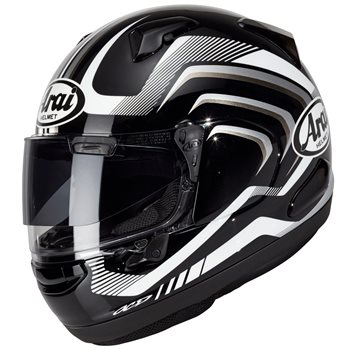 00a7f84e Arai QV Carve Black Motorcycle Helmet (Black White)   The Visor Shop.com
