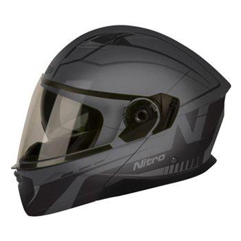 Nitro N3100 UNO Full Face Motorcycle Helmet Blackout Gloss BlackXXL