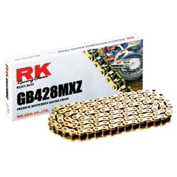 RK GB 428MXZ Gold Chain Motocross Heavy Duty (128 Links)  - Click to view larger image