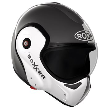 Roof Boxxer 9 Face Flip Front Helmet (Metal|Pearl White)  - Click to view larger image
