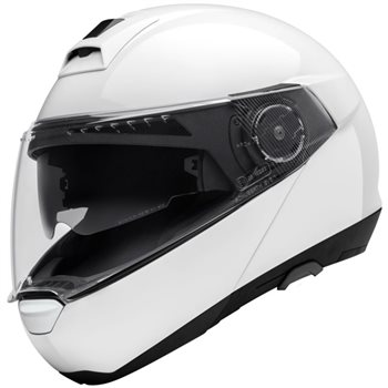 a7c666c6 Schuberth C4 PRO Flip Front Helmet (Gloss White) - Click to view larger  image