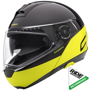 ed9c8fc5 Schuberth C4 PRO Swipe Yellow Flip Front Helmet (Black|Yellow) | The ...