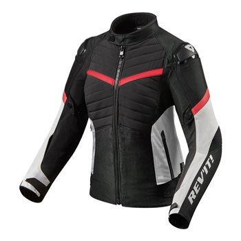 Revit Ladies Motorcycle Jacket Arc H2O (Black Red)  - Click to view larger image