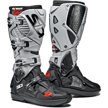 Sidi Crossfire 3 SRS Motocross Boots (Black|Ash)  - Click to view larger image